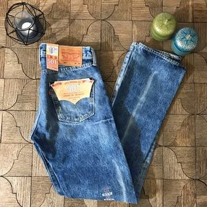 Levi's straight leg button fly 501 jeans